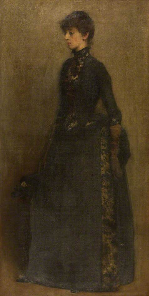famous painting Lady in Grey Mrs Montgomery of Philip Wilson Steer