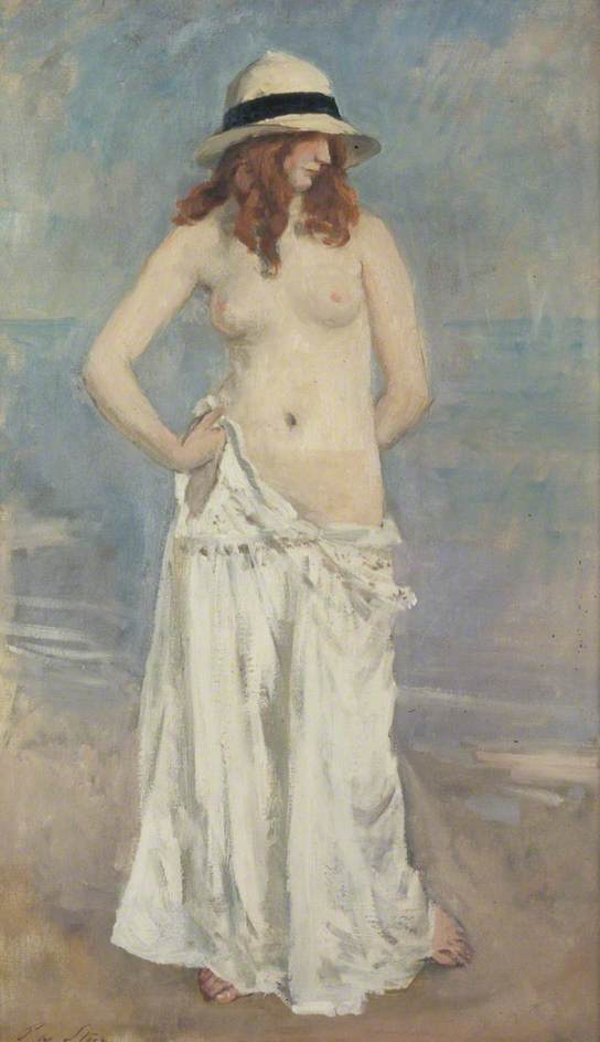 famous painting The Panama Hat of Philip Wilson Steer