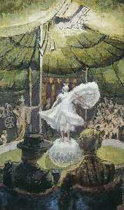 Thérèse Lessore - Adelaide Yelving in the Circus Ring