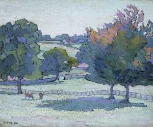 Robert Polhill Bevan - Maples at Cuckfield, Sussex