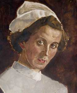 Robert Sivell - Head of a Nurse