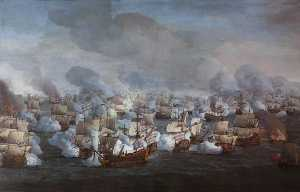 Willem Van De Velde The Elder - The Battle of the Texel (Kijkduin), 11–21 August 1673 The Engagement of the Two Fleets