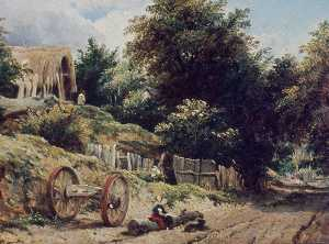 Frederick Waters (William) Watts - Lane near Bishopstoke, Hampshire