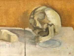 Victor Pasmore - Still Life with a Skull