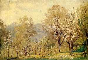 Anna Richards Brewster - At Nice, France.spring, 1900, (painting)