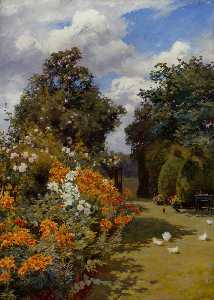 Alfred William Parsons - Orange Lilies, Broadway, Worcestershire