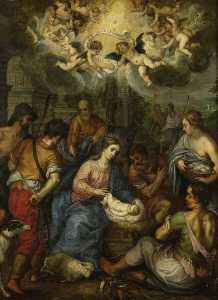 Hendrick Van Balen - Adoration of the Shepherds