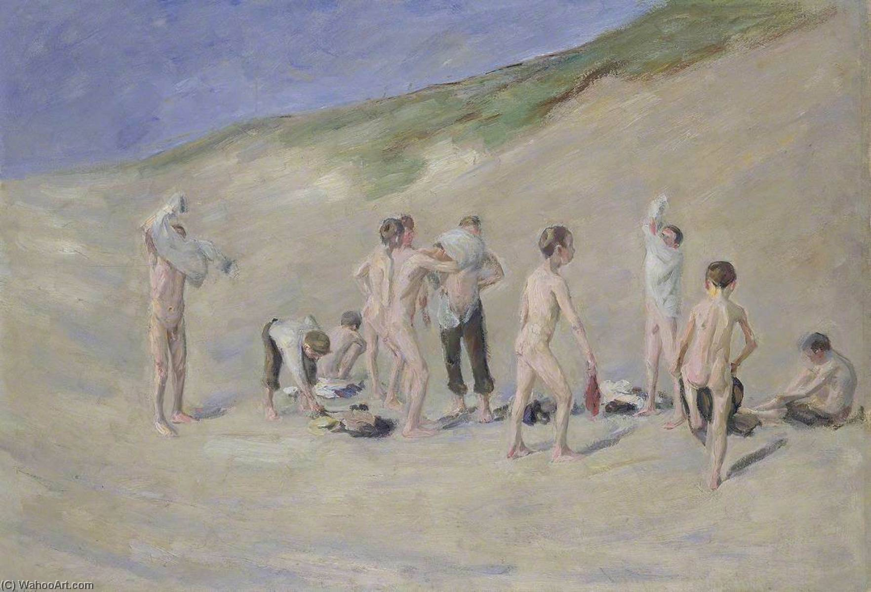 famous painting After Bathing (Nach dem Baden) of Max Liebermann