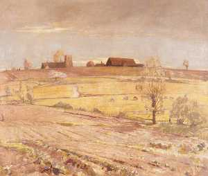 William Luson Thomas - Suffolk Landscape (from Pinmill)