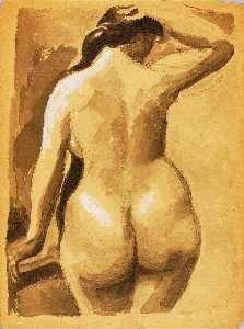 Carl Newman - Back View of Female Nude