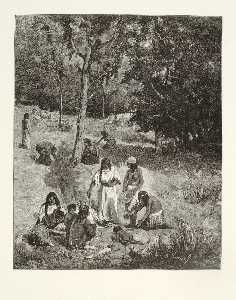 Henry Wolf - Indians Gathering Nuts