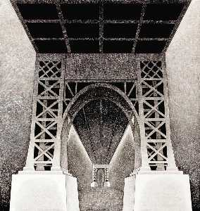 Louis Lozowick - Bridge