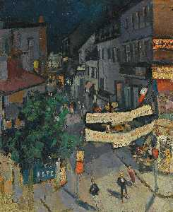 Konstantin Alekseyevich Korovin - Vichy at Night