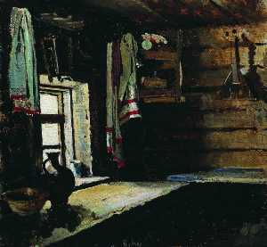 Sergei Arsenievich Vinogradov - Interior of a Peasant House