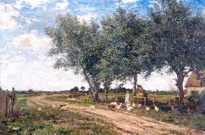 James Aumonier - Near Old Leake, Lincolnshire