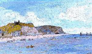 William Henry Borrow - Hastings, East Sussex, from the Sea