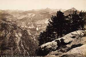 Carleton Emmons Watkins - The Vernal and Nevada Falls, from Glacier Point, Yosemite