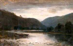 James Docharty - Mountain and River Evening