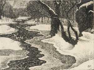 Benson B Moore - Rock Creek in Winter