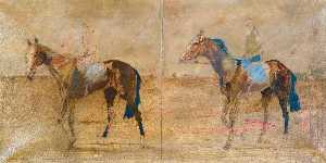 Basil Blackshaw - Two Horses Exercising