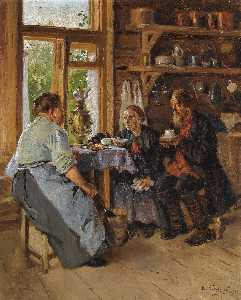 Vladimir Yegorovich Makovsky - Visiting the Cook