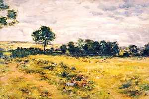 William Mctaggart - Harvest at Broomieknowe