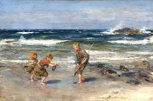 William Mctaggart - A Message from the Sea