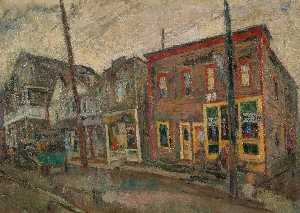 Abraham Manievich - Street in the Bronx
