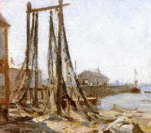 Edwin Ambrose Webster - Drying Nets, Provincetown