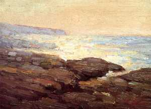 Frank Coburn - Early Moonrise near Point Fermin, California
