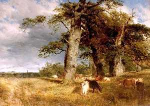 Henry Thomas Dawson - Landscape in the Dukeries, Nottinghamshire