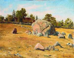 Grigory Gurkin - Landscape with Rocks