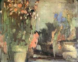 Olga Bozna Ska - Flowers on the Terrace