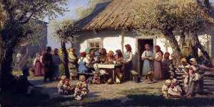 Petr Sukhodolsky - The Lunch of Peasant Women