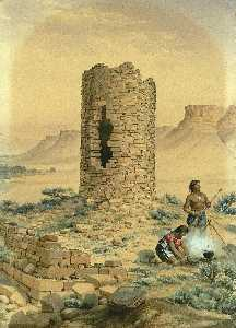 William Henry Holmes - Ancient Stone Round Tower