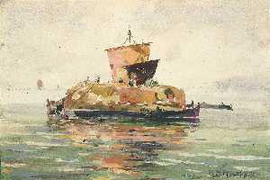William Henry Holmes - Venetian Freight Boats