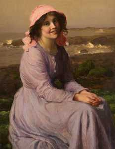Thomas Edwin Mostyn - A Fisherman's Daughter