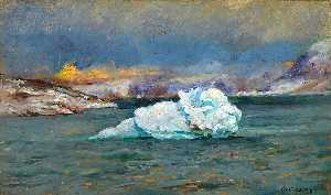 Frank Wilbert Stokes - Bowdoin Bay, Greenland, October 20, 1893