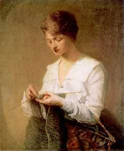Julian Alden Weir - Knitting for Soldiers