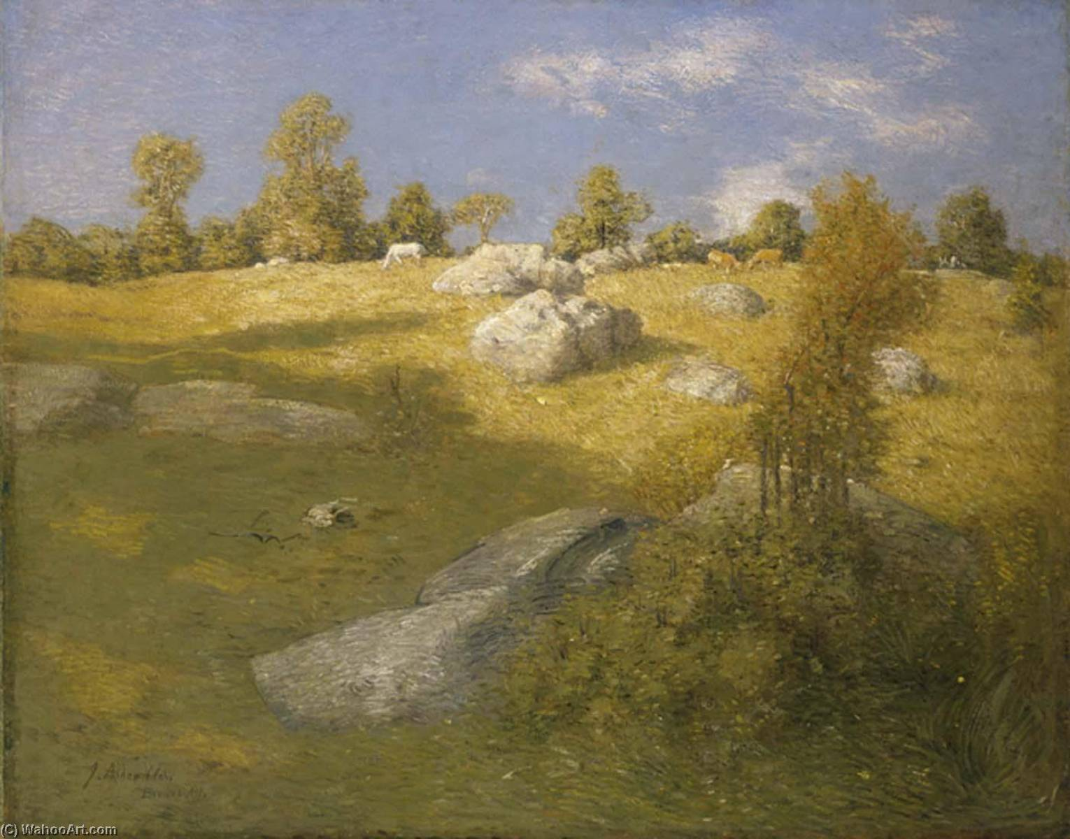 famous painting Upland Pasture of Julian Alden Weir