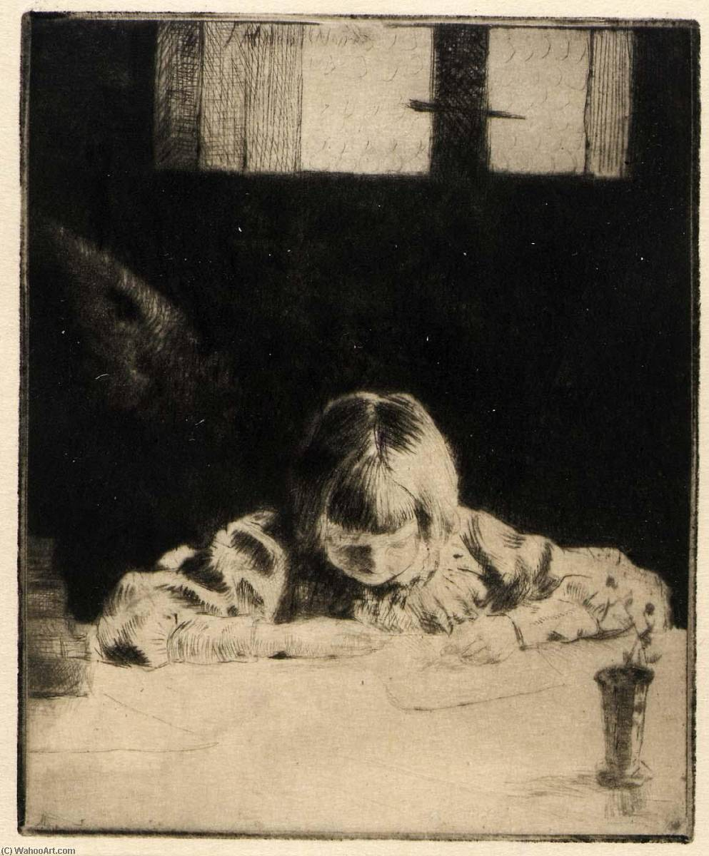 famous painting The Little Student of Julian Alden Weir