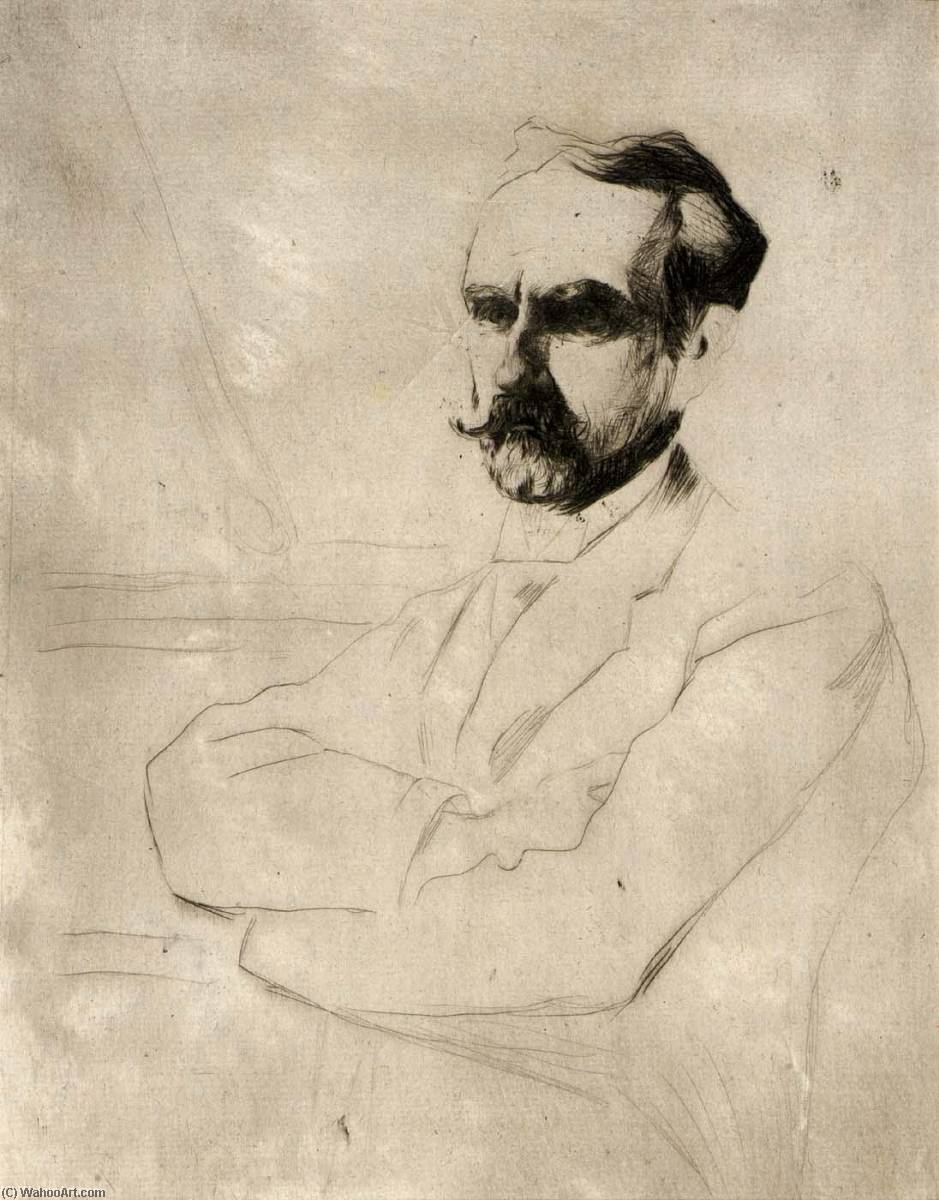 famous painting Portrait of Dr. Robert F. Weir of Julian Alden Weir
