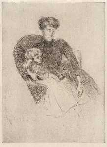 Julian Alden Weir - Woman and Child, Seated (Mother and Child with Toy)