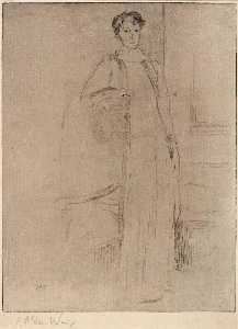 Julian Alden Weir - Standing Figure no. 1