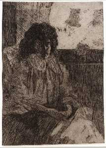 Julian Alden Weir - Sketch by the Window no. 2