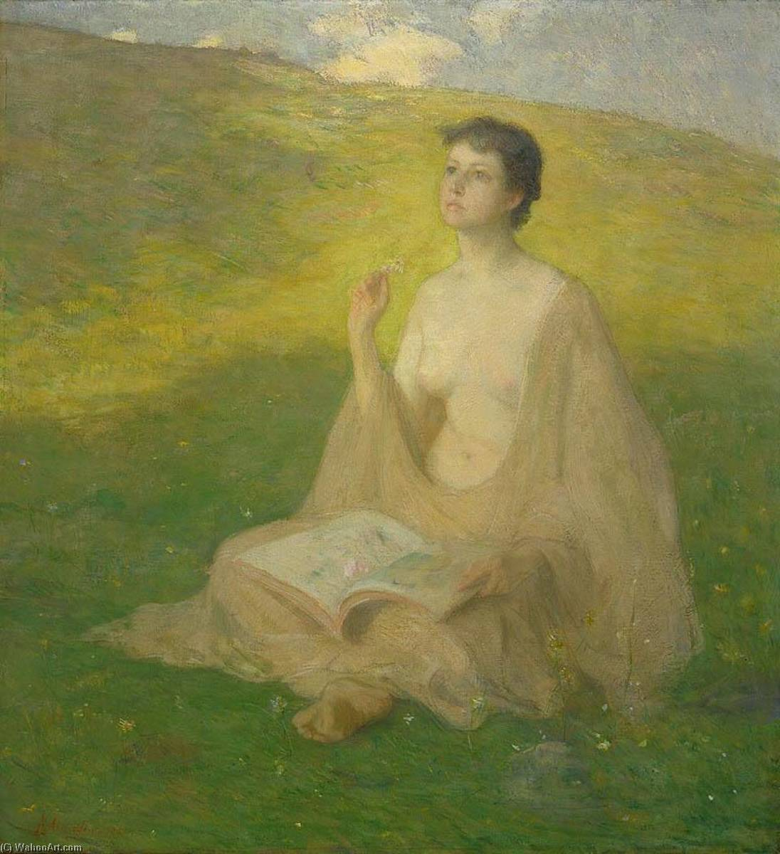 famous painting The Open Book of Julian Alden Weir