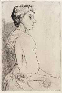 Julian Alden Weir - Portrait of a Woman