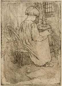 Julian Alden Weir - The Little Artist