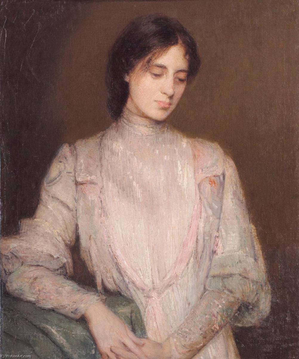 famous painting A Gentlewoman of Julian Alden Weir