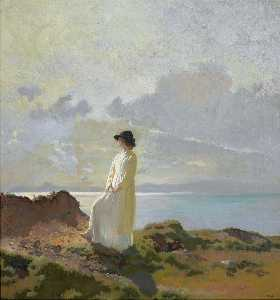 William Newenham Montague Orpen - In the cliffs, Dublin bay, morning